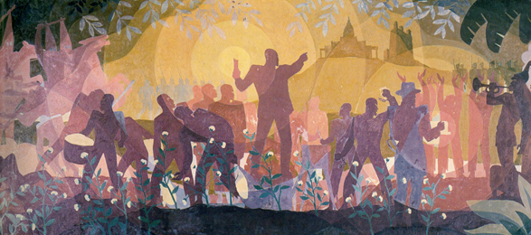 "A Mural by Aaron Douglas Entitled ""Aspects of Negro Life: From Slavery Through Reconstruction,"" 1934"